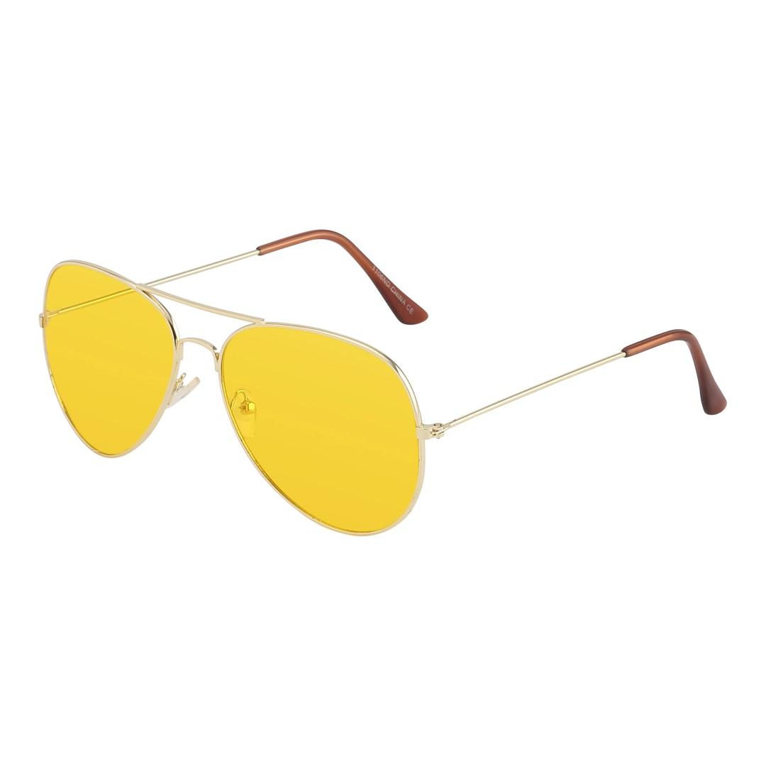 Aviator   Pilot-solglasögon i guld med gult glas - Design nr. 1063 c211f2da49db8