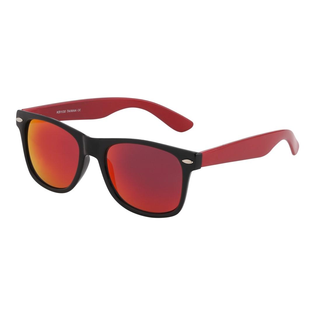 Wayfarer med röda skalmar och multifärgat glas - Design nr. 1065 882836611d59e